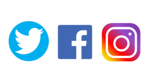 Instagram, Facebook, Twitter apps