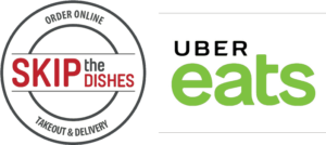 skip the dishes and ubereats logo
