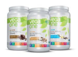 Different vegan protein flavours